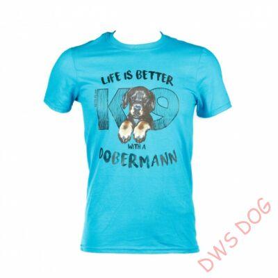 JULIUS-K9 Dobermann, XL-méretű, kutyás póló