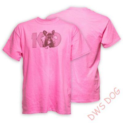 JULIUS-K9 Francia Bulldog, XL-méretű, pink kutyás póló