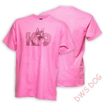 JULIUS-K9 Németjuhász, XXL-méretű, pink kutyás póló