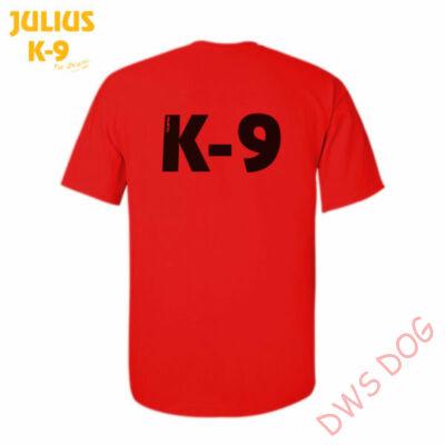 K9 póló, piros - méret: XXL