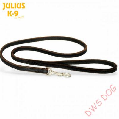 JULIUS-K9, 10 mm szélességű,1,2 m hosszú fogós, bőr kutyapóráz