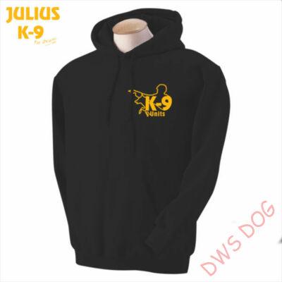 K9 kapucnis pulóver, fekete - méret: XXL
